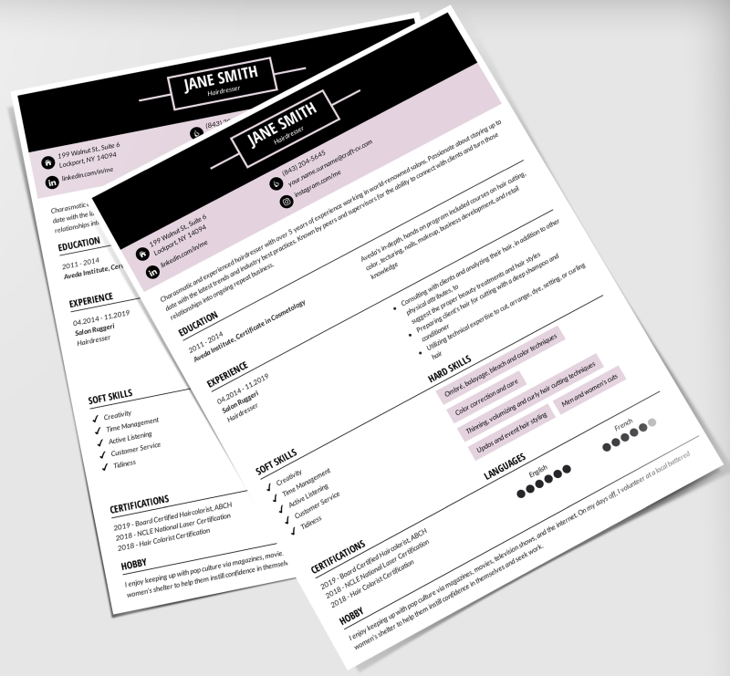 hobbie and interests on resume