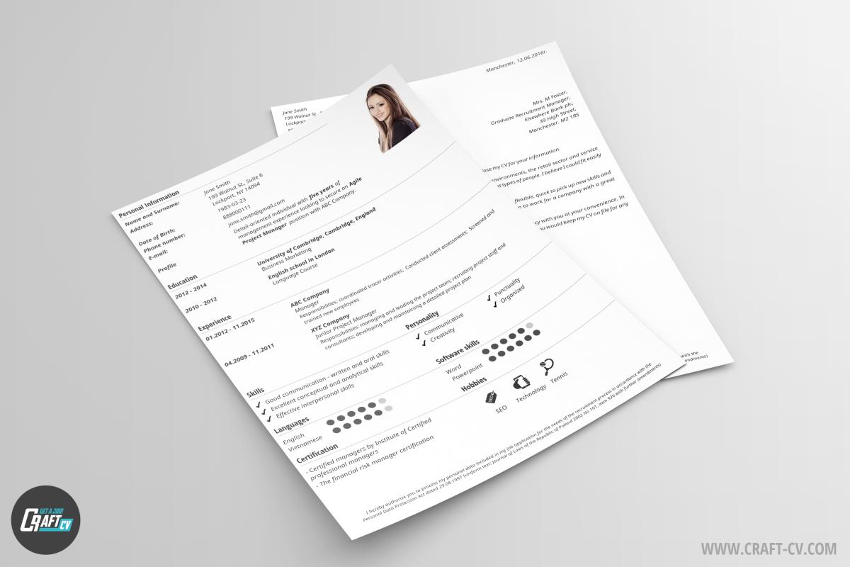 Lebenslauf-Muster Classic | Lebenslauf-Assistent | CraftCv