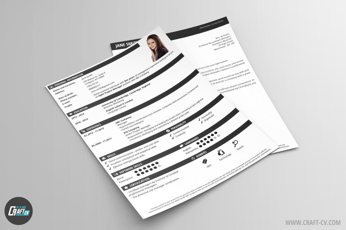 Lebenslauf-Muster Modern | Lebenslauf-Assistent | CraftCv