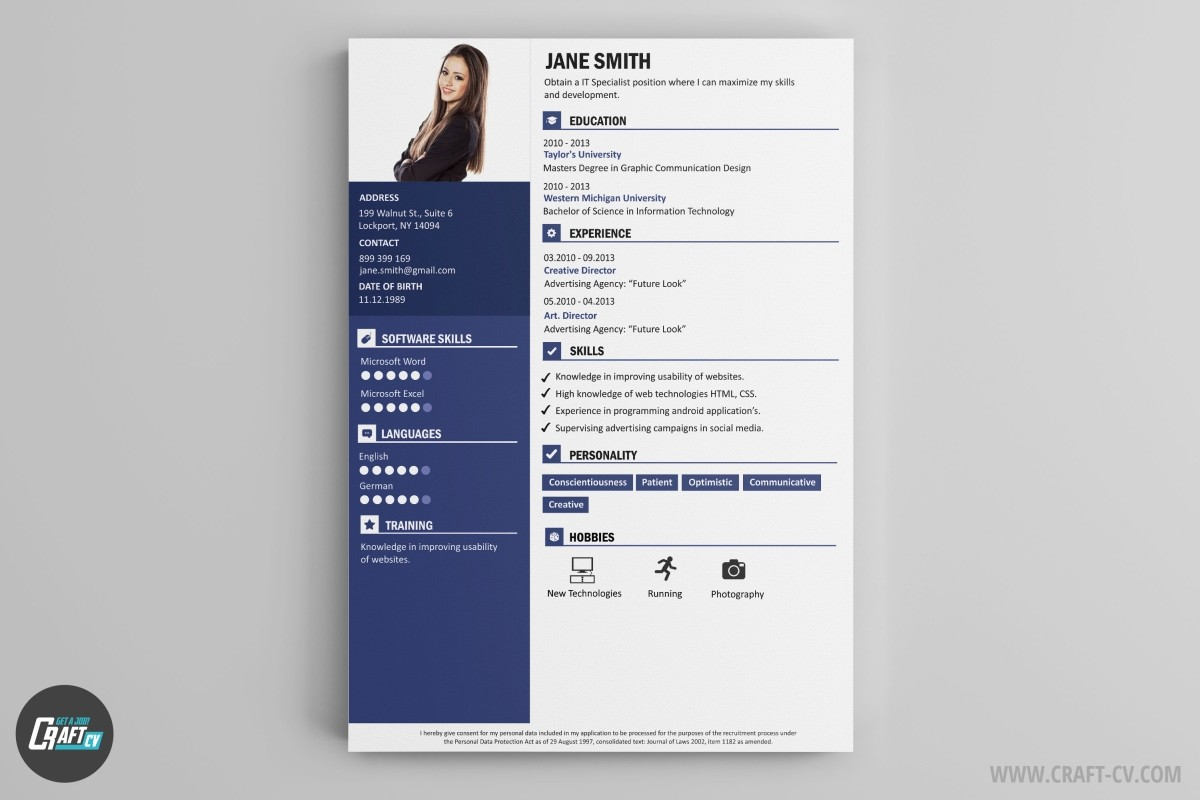 A Graphic Designer Cv