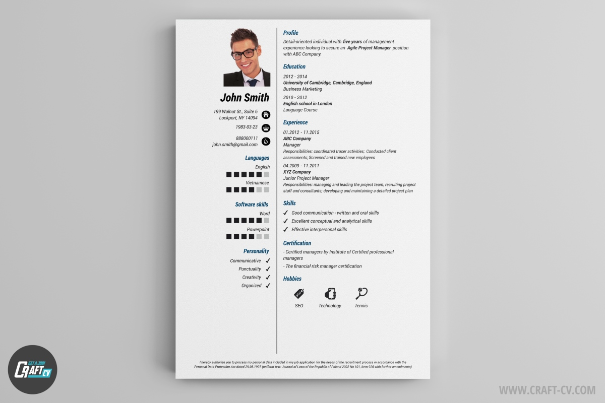 Resume Template Clariss