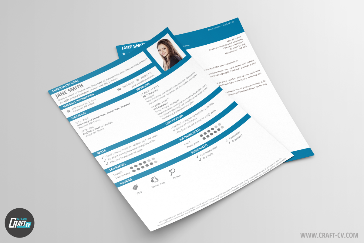 Creative Resume Template Black Cleaver | Resume Maker | CraftCv