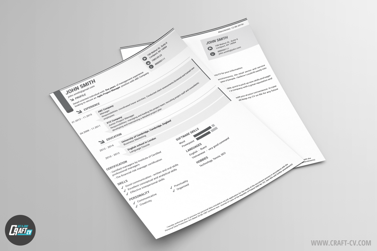 modern resume and cover letter iris resume builder craftcv