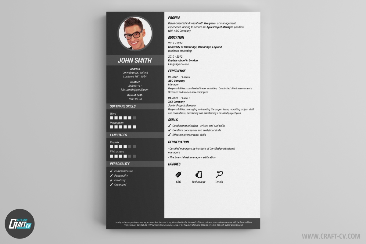 Resume Template Glory