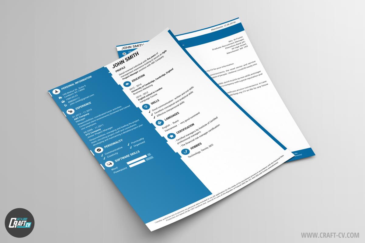 creative resume template probe