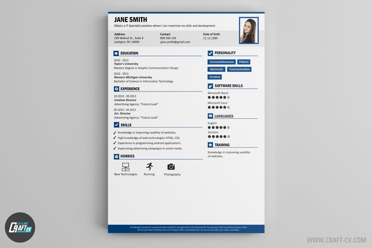 resume template classic