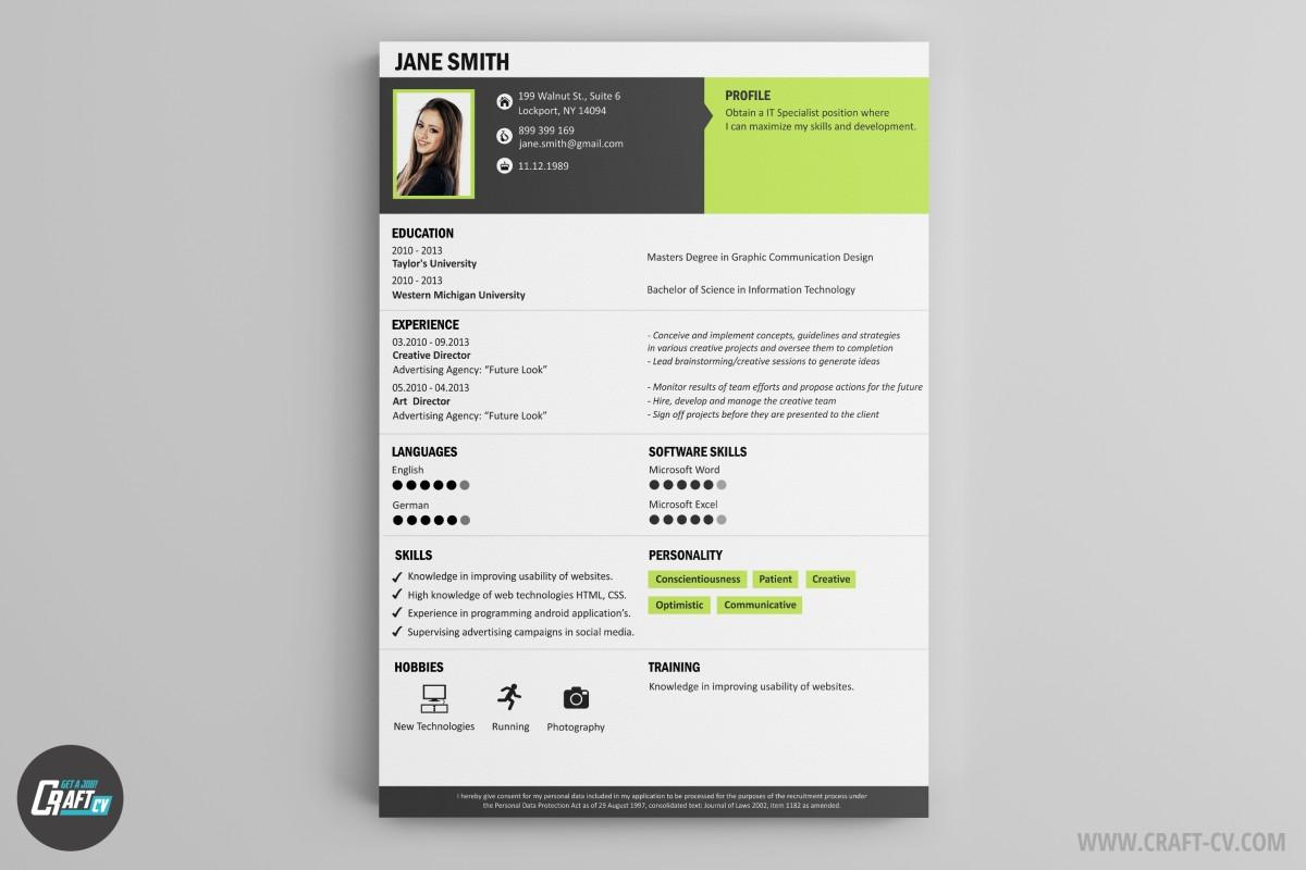 Resume Builder | Creative Resume Templates | CraftCv