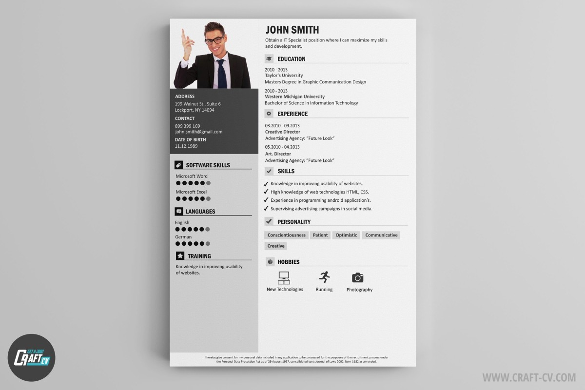 Resume Maker | Creative Resume Builder | CraftCv