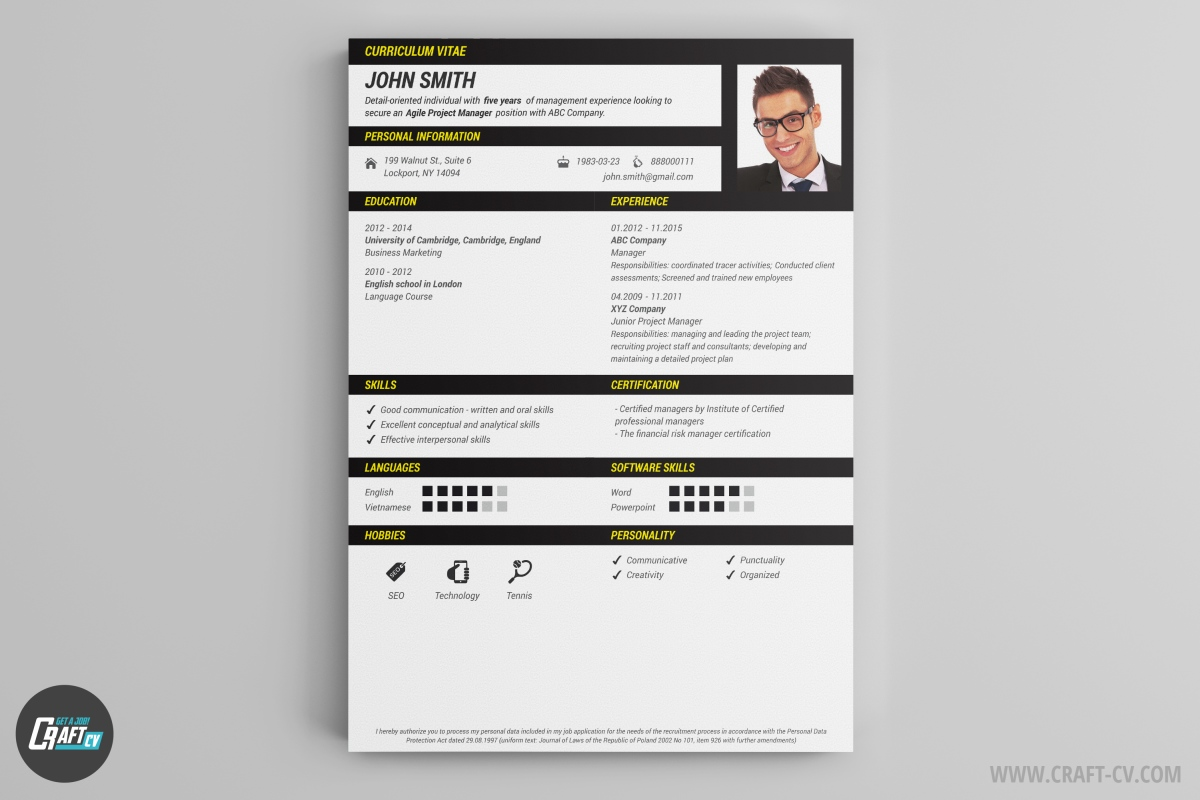 resume maker creative resume templates craftcv all the information in this resume template is shown very easy and precisely let your new employer enjoy reading your resume