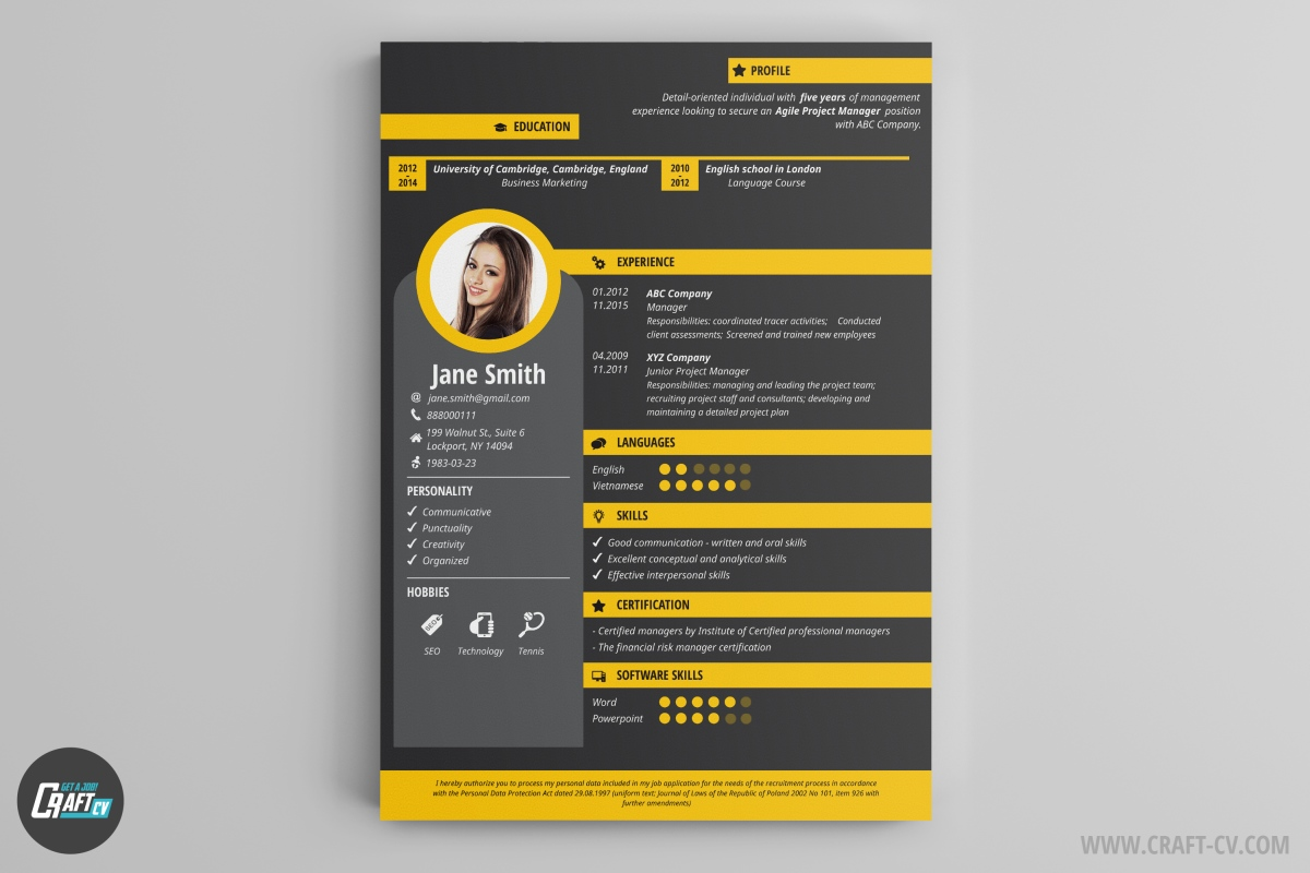resume builder creative resume templates craftcv With creative resume maker