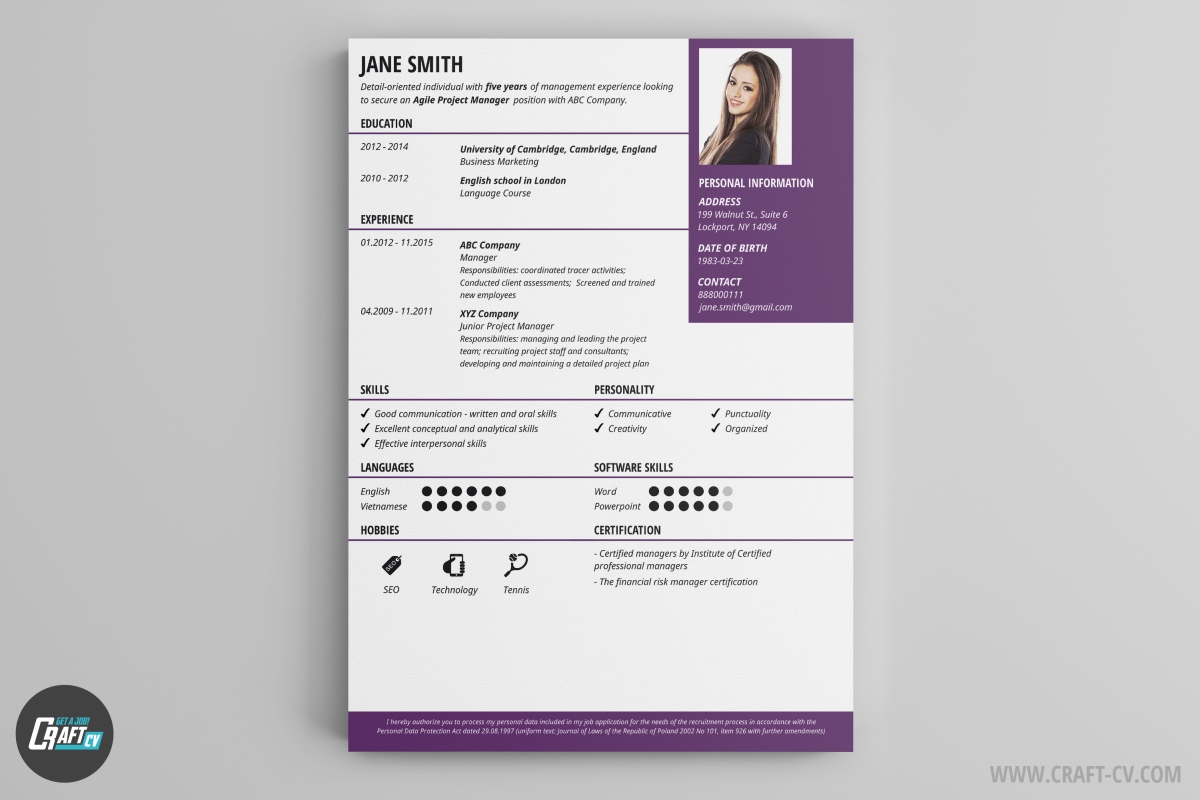 interesting resume designs