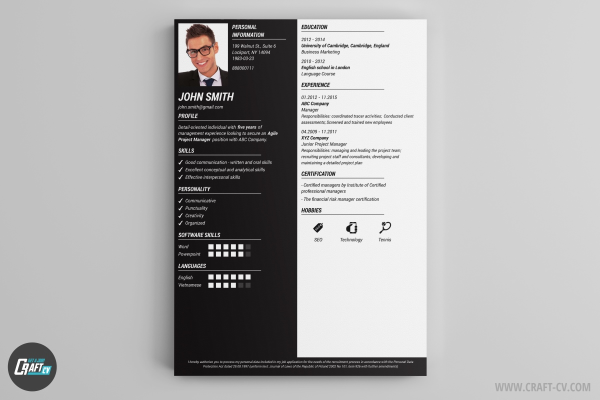 straight lines and sharp edges tells the reader that you are a solid professional try out the resume builder and use - Professional Resume Builders