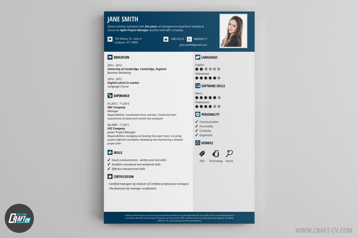 Resume Template Resume Sample