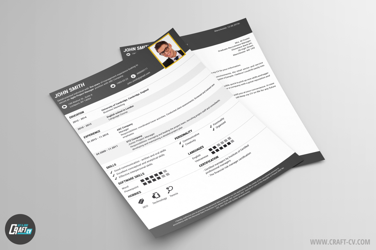 Creative CV Sample Solid