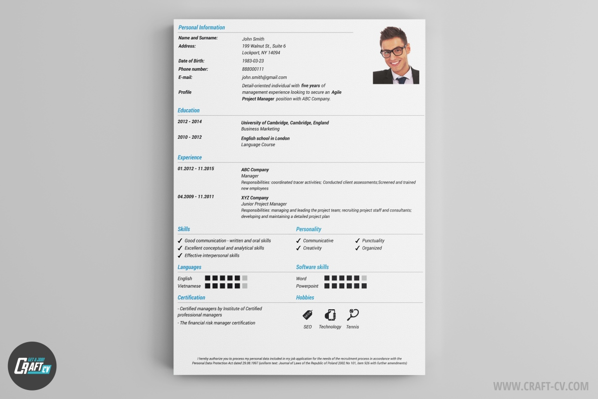 cv maker professional cv examples online cv builder craftcv as the of the cv template shows classic is 100% traditional and professional you can use it when you are sure that you don t need to show your