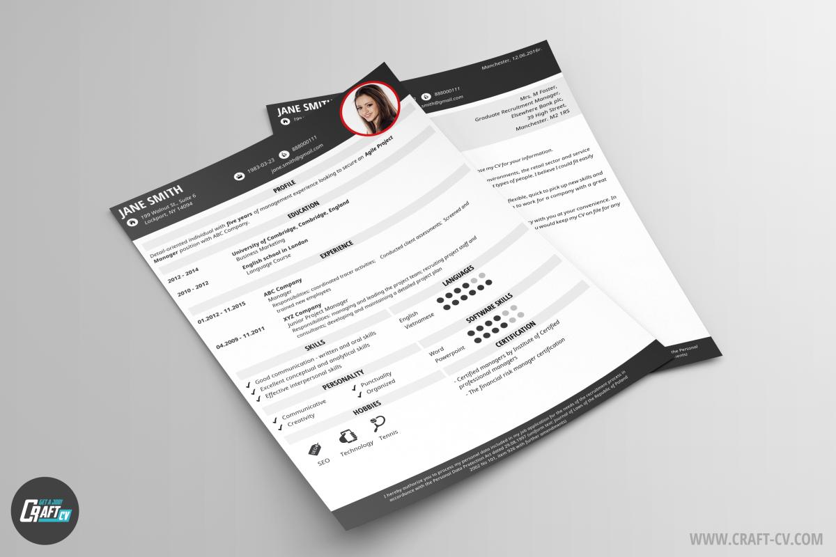 Elegant CV Gral | Cover Letter Sample | CraftCV