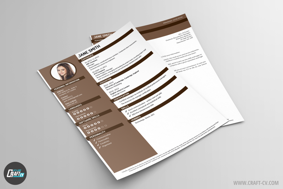 Creative Resume CV and Cover Letter