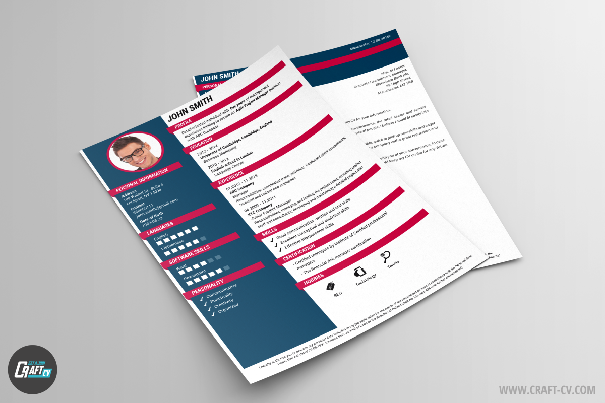 creative cv example oracle