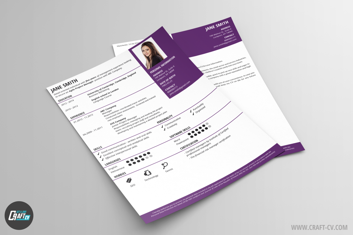 CV Sample Pandora | Epic CV Template | CV Builder | CraftCv