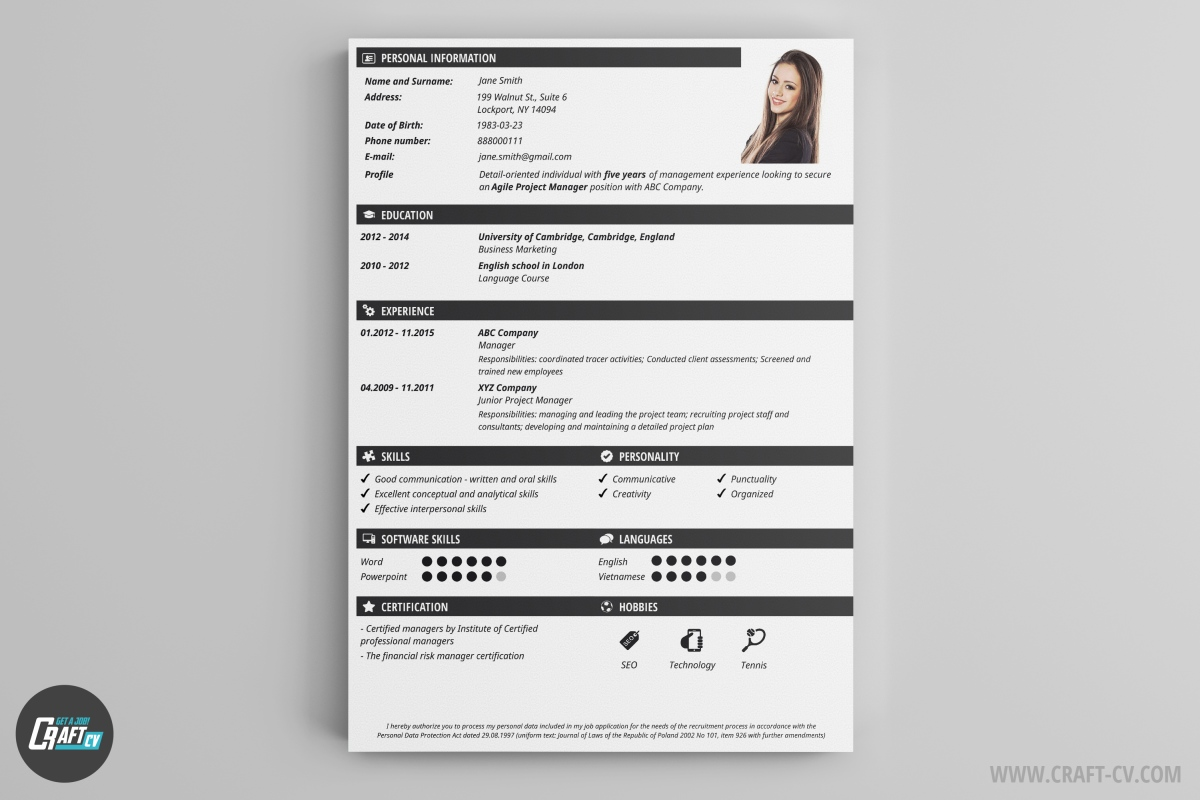 CV Maker Professional CV Examples Online CV Builder CraftCv - Fresh c section birth plan template scheme