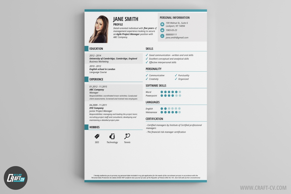 cv maker professional cv examples online cv builder craftcv thresh is the cv example that sets the new standards the creativity combined the traditional composition makes it really attractive