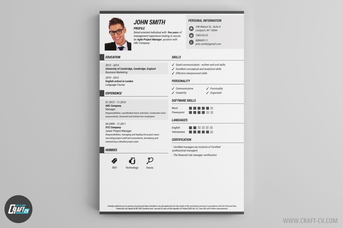 cv maker professional cv examples online cv builder craftcv the creativity combined the traditional composition makes it really attractive check all the colors on our cv maker