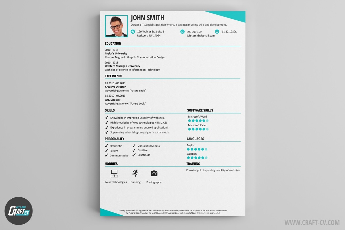 cv for free