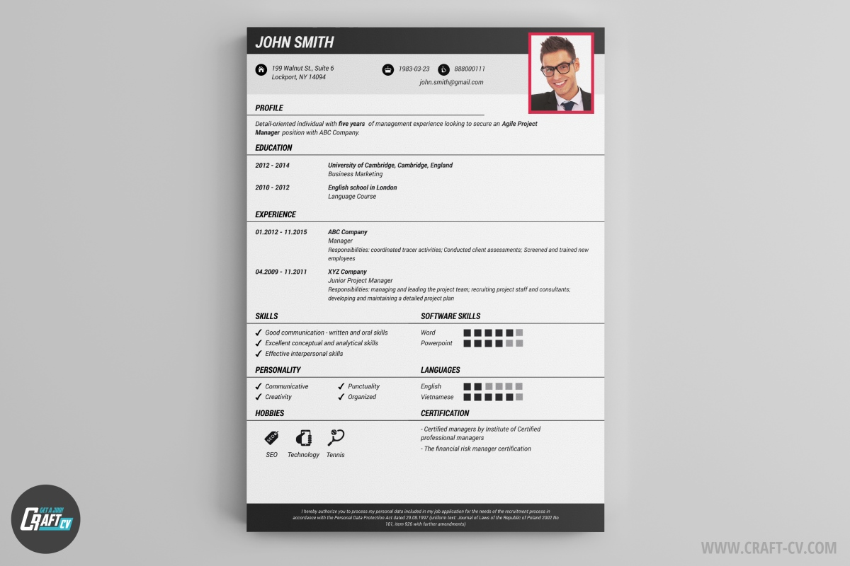 Perfect Creative CV Creative CV Templates