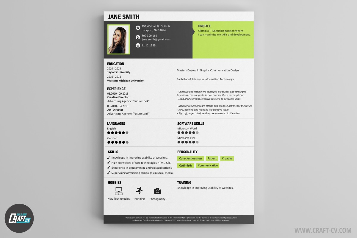 Creative CV Creative CV Sample