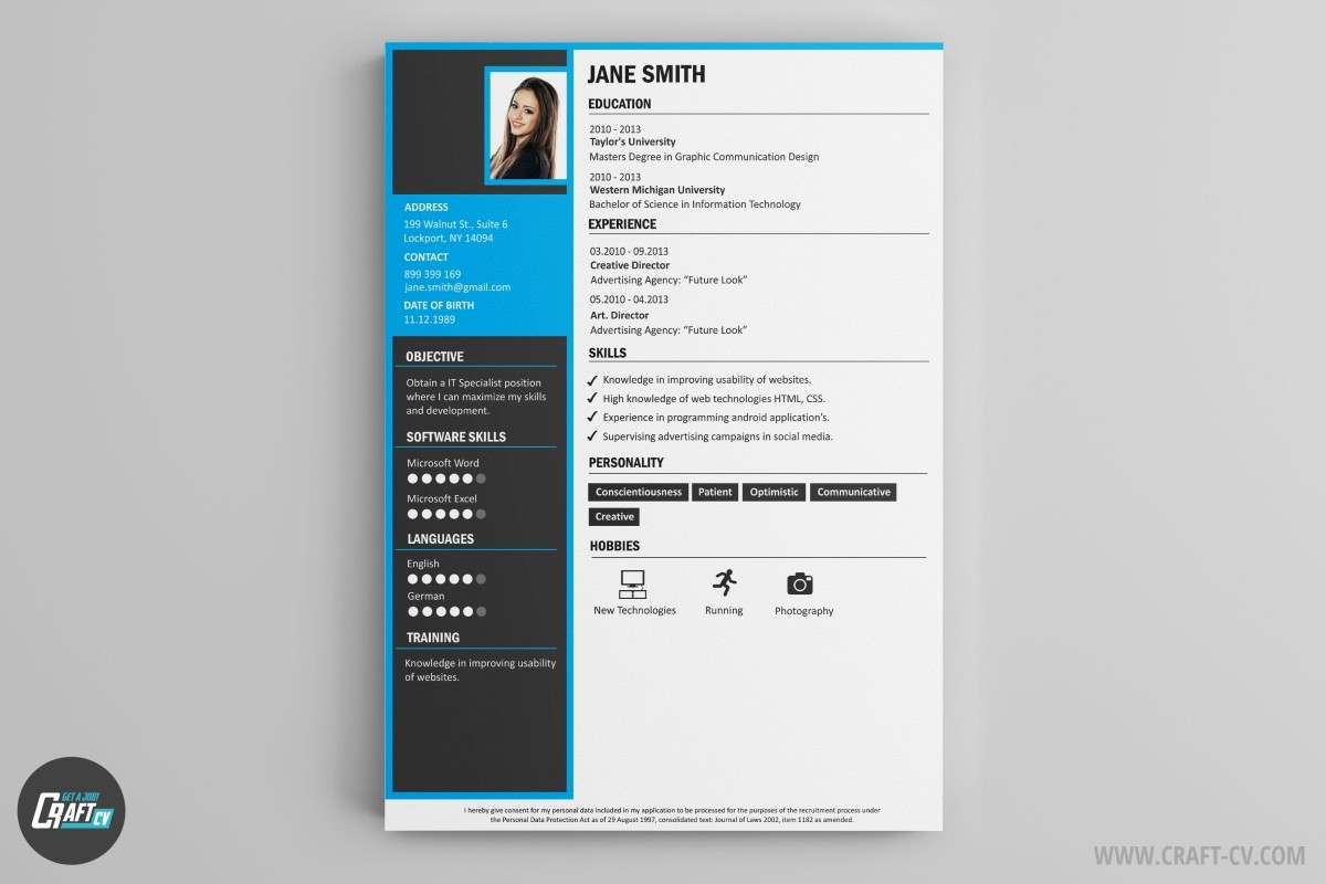 unique cv design