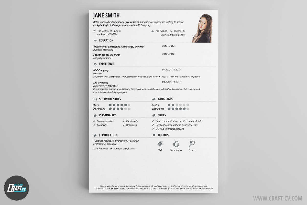 cv maker professional cv examples online cv builder craftcv pick this cv sample and create a overwhelming impression get noticed using the wide range of icons and colors