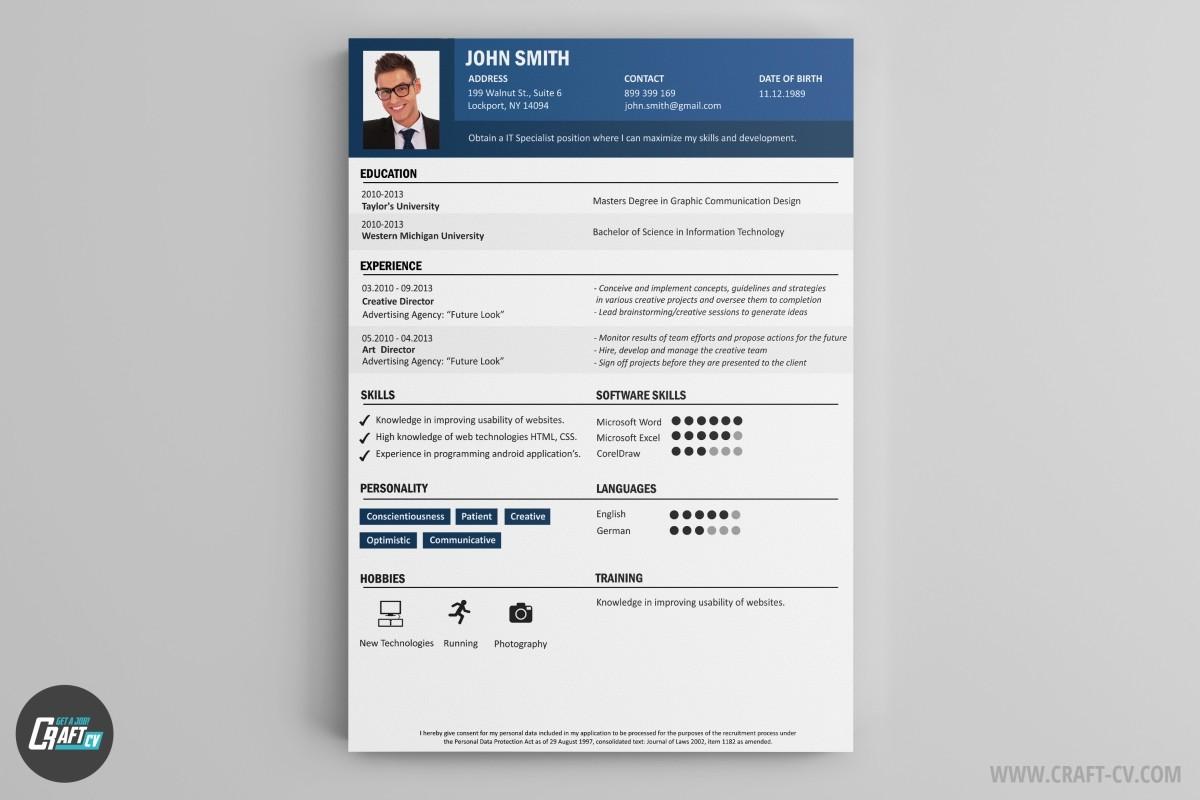CV Maker | Professional CV Examples | Online CV Builder | CraftCv