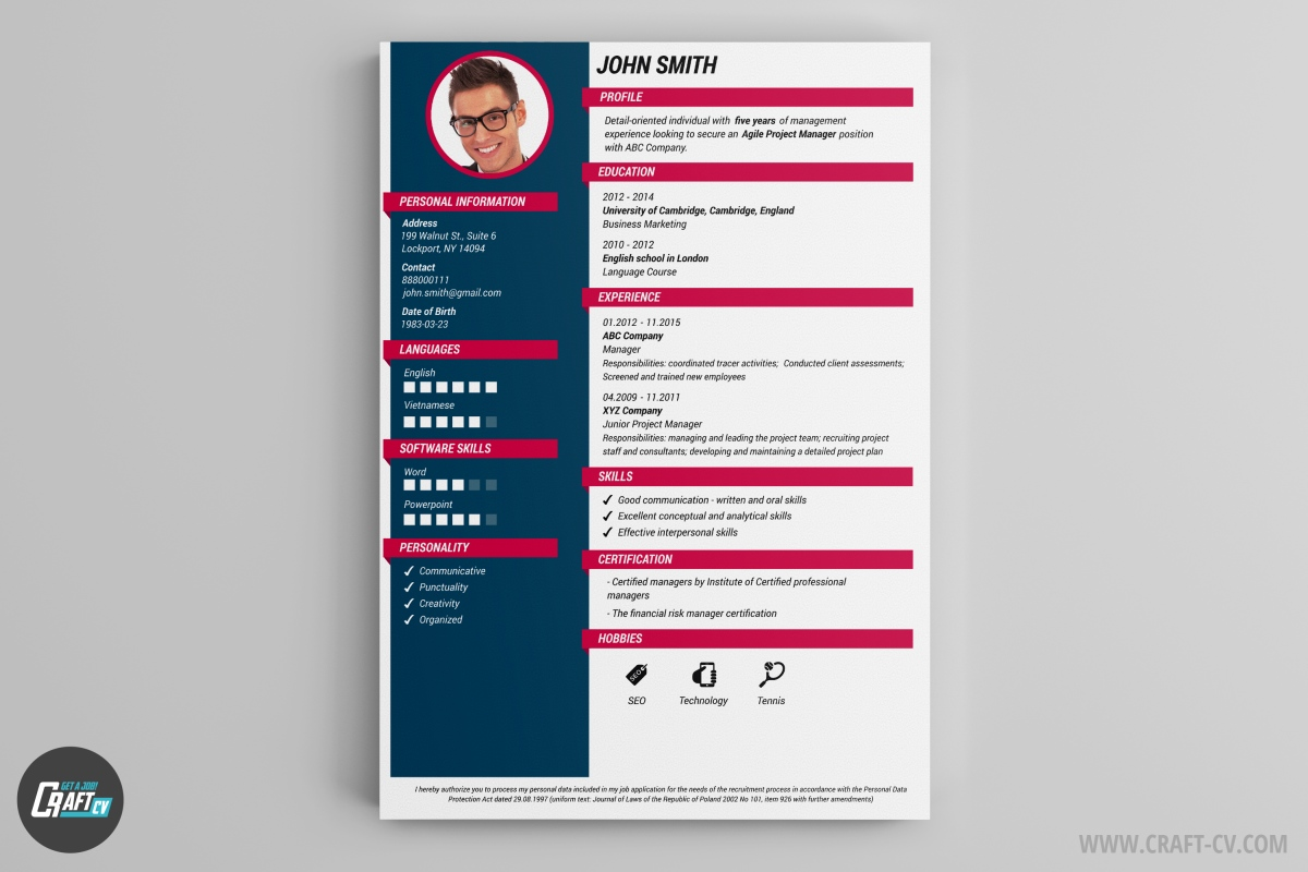 cv maker professional cv examples online cv builder craftcv fresh colors and stylish headers are tha main features of the oracle cv template it was designed to astonish the recruiter and stand out from the crowd