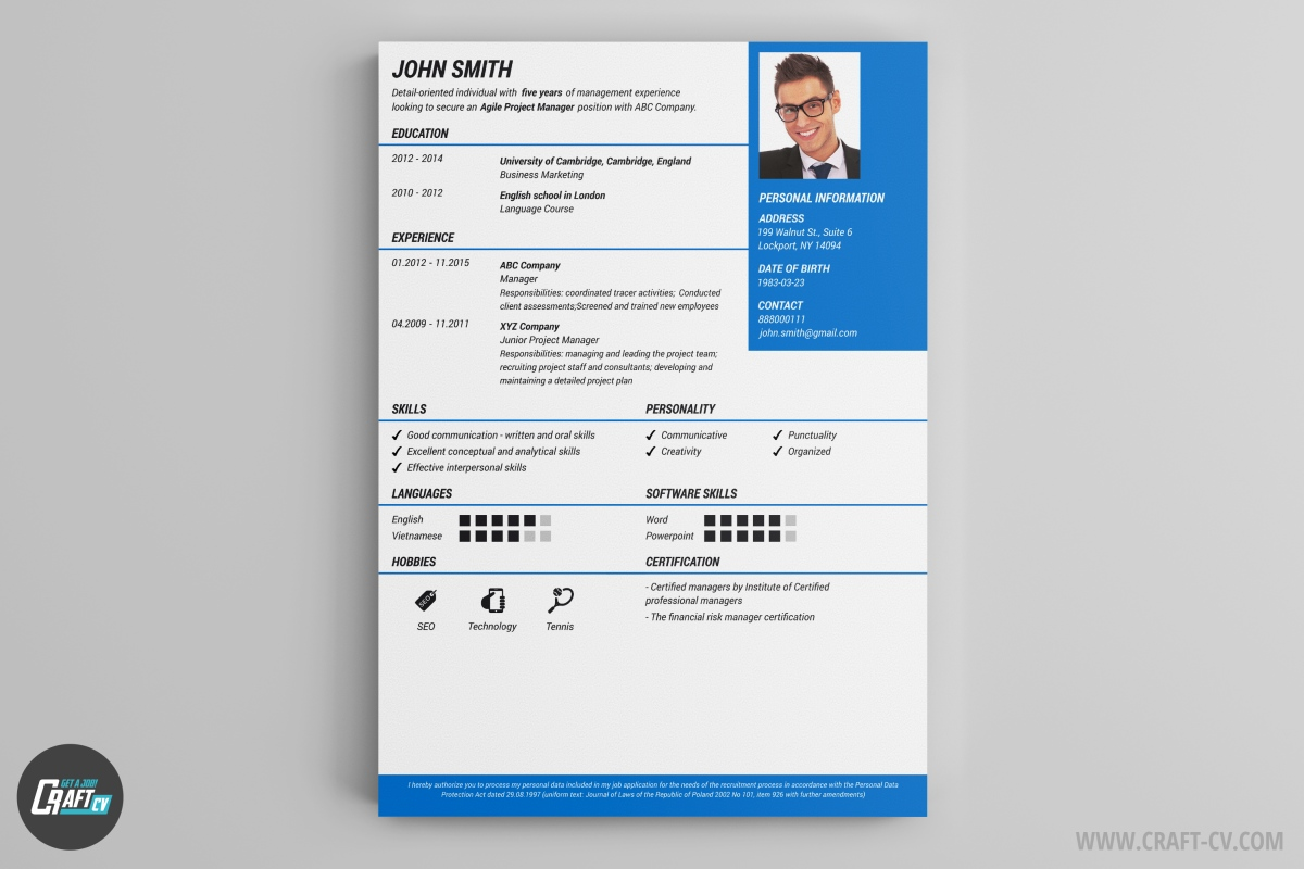 CV Templates Creative CV Intended For Online Resume Generator