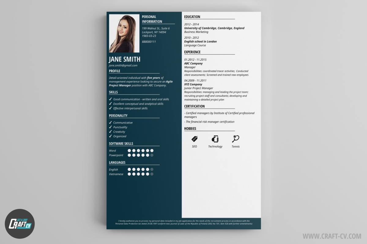 Cv Template Design Online