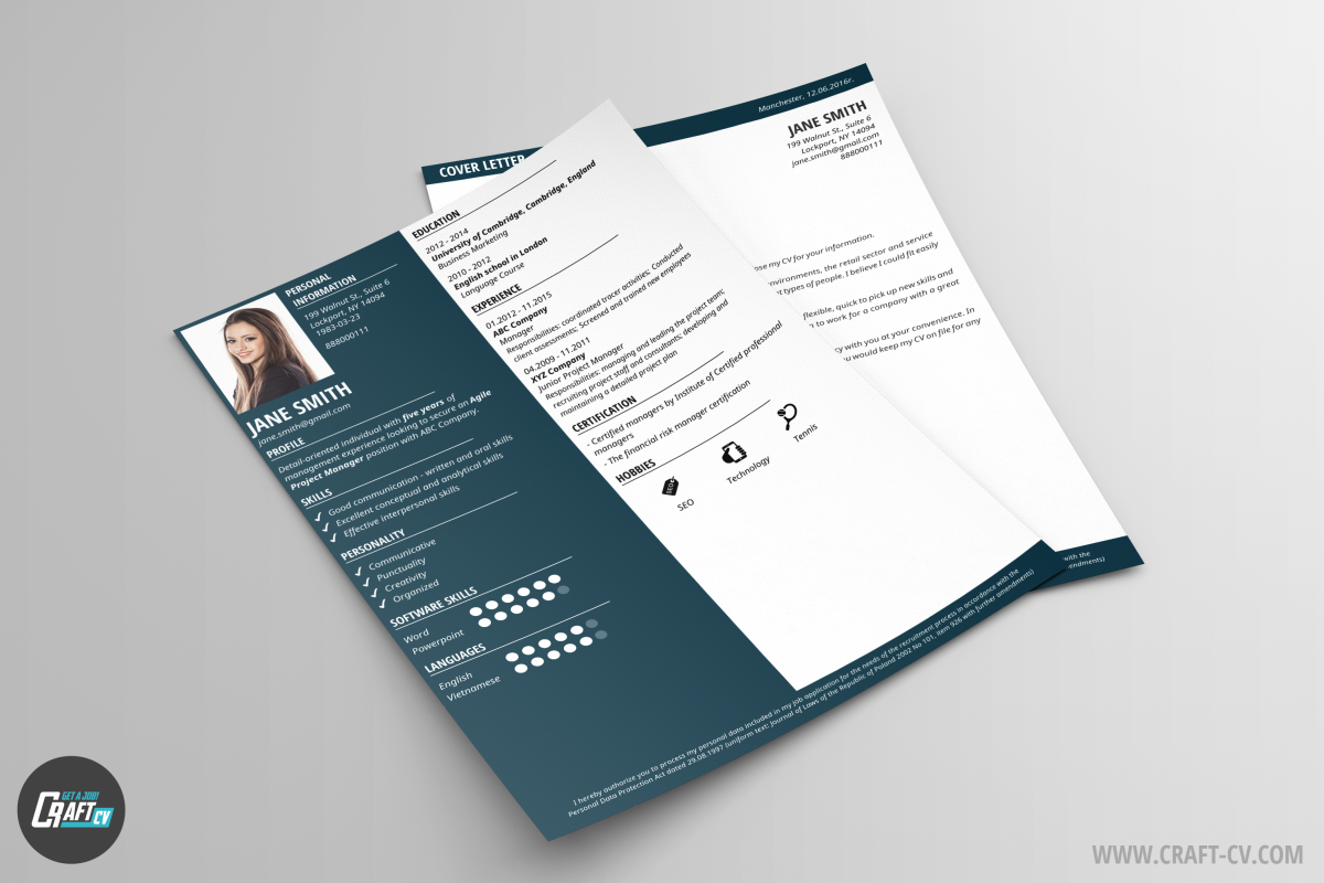 CV Template and Cover Letter