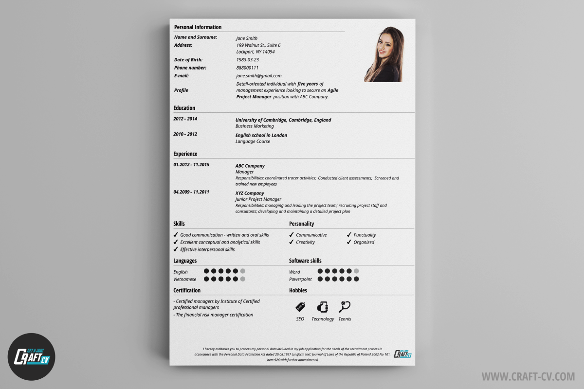 write a cv online for free