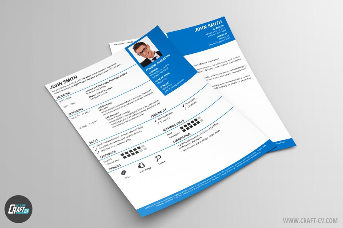Plantilla de CV Pandora | Creador de CV | Crear CV | CraftCv