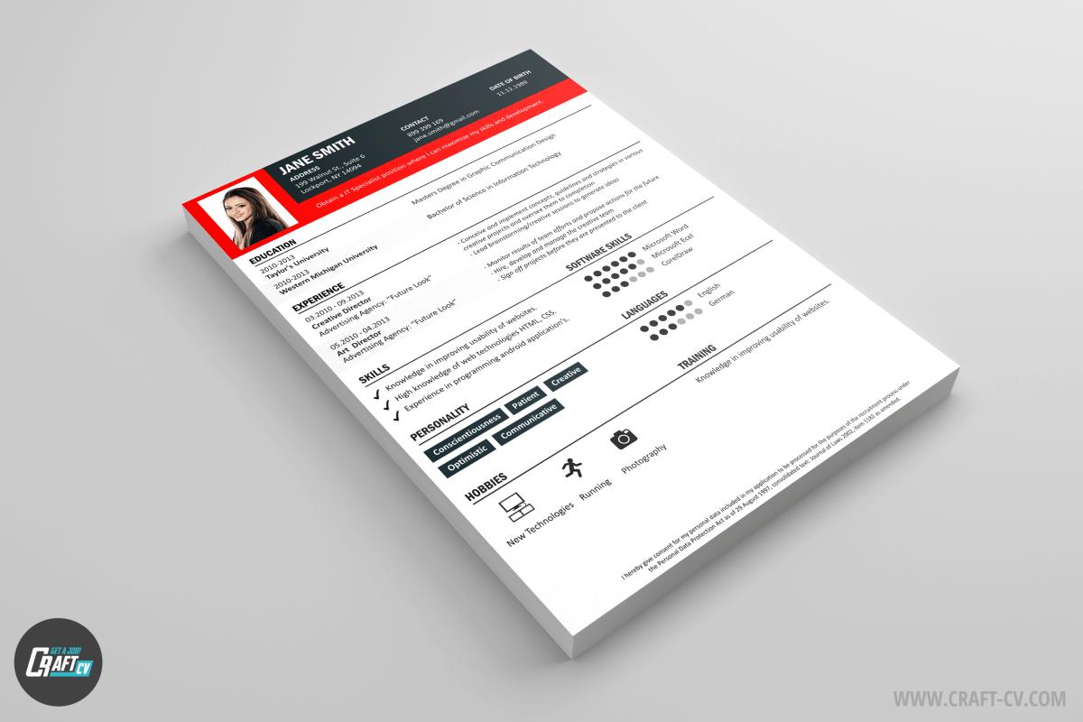 CV Creativo Raven | Modelo CV | Plantillas de CV | CraftCv