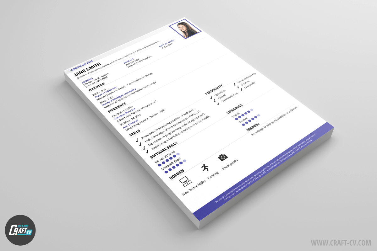 Plantillas CV Smart | Modelos de CV | Cv Creativo | CraftCv