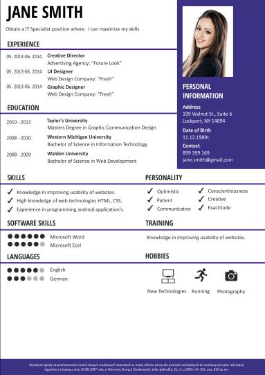 Modelli Di Cv Modello Curriculum Creatore Di Cv Craftcv