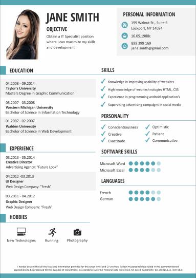 Modelli di CV   Modello Curriculum