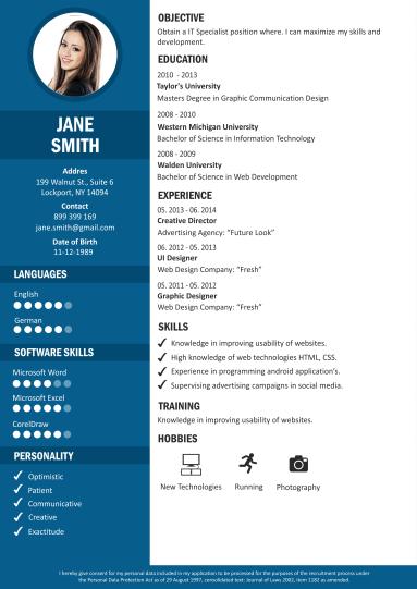 Gratis CV Maken Voorbeeld CV