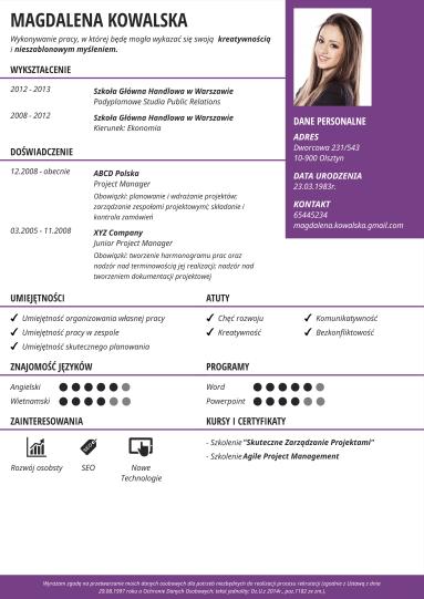 Kreator Cv Rekomendowane Wzory Cv Program Do Cv Craftcv