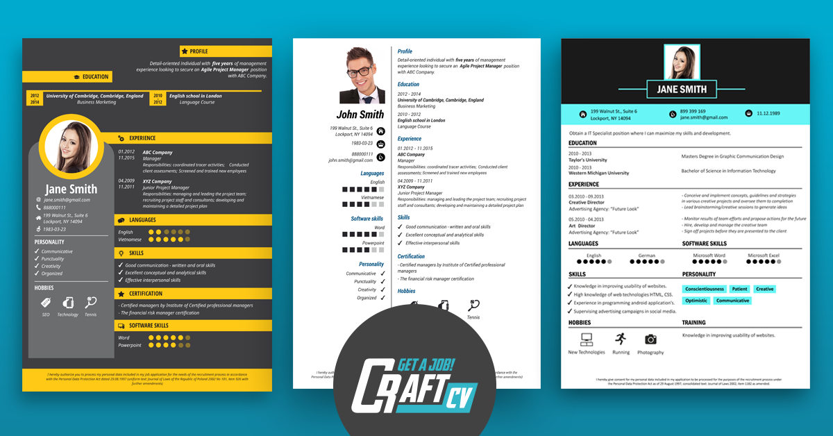 Cv Maker Cv Builder Creative Cv Templates Craftcv